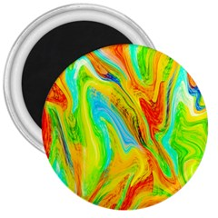 Happy Multicolor Painting 3  Magnets