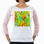 Happy Multicolor Painting Girly Raglans