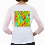 Happy Multicolor Painting Girly Raglans Back