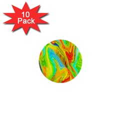 Happy Multicolor Painting 1  Mini Buttons (10 Pack)  by designworld65