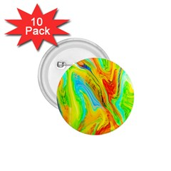 Happy Multicolor Painting 1 75  Buttons (10 Pack) by designworld65