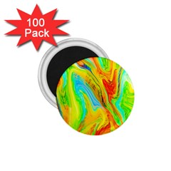 Happy Multicolor Painting 1 75  Magnets (100 Pack)  by designworld65