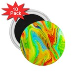 Happy Multicolor Painting 2.25  Magnets (10 pack)