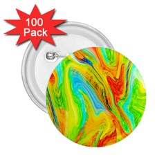 Happy Multicolor Painting 2 25  Buttons (100 Pack)