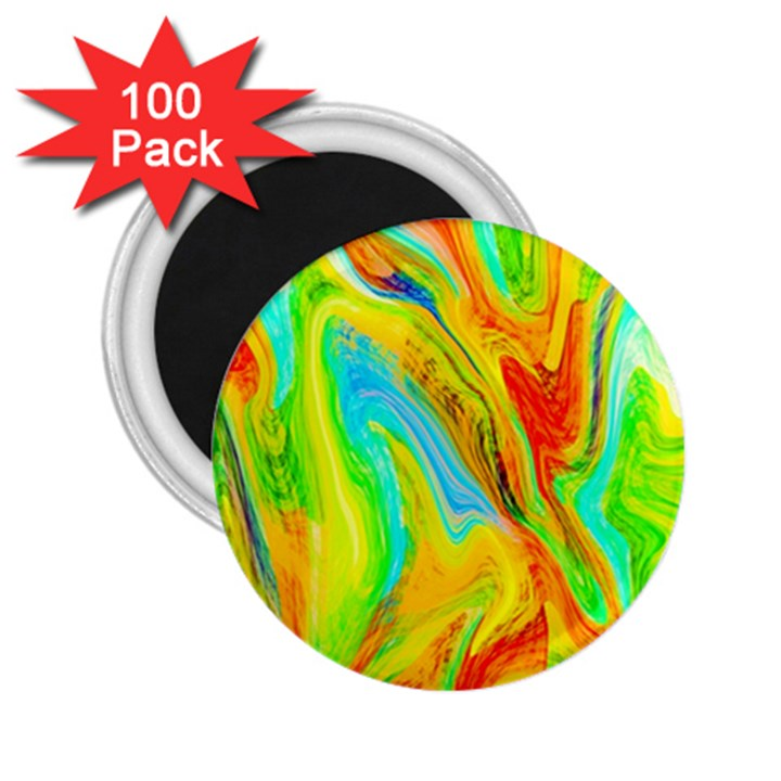 Happy Multicolor Painting 2.25  Magnets (100 pack)