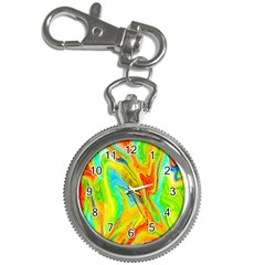 Happy Multicolor Painting Key Chain Watches by designworld65