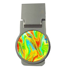 Happy Multicolor Painting Money Clips (round)  by designworld65
