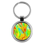 Happy Multicolor Painting Key Chains (Round)