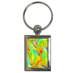 Happy Multicolor Painting Key Chains (rectangle)  by designworld65