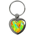 Happy Multicolor Painting Key Chains (Heart)