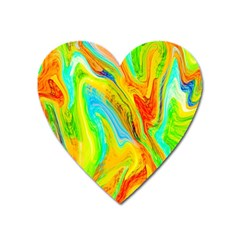 Happy Multicolor Painting Heart Magnet by designworld65