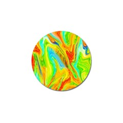 Happy Multicolor Painting Golf Ball Marker by designworld65