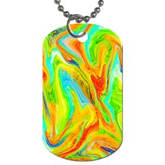 Happy Multicolor Painting Dog Tag (two Sides) by designworld65