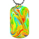 Happy Multicolor Painting Dog Tag (Two Sides)