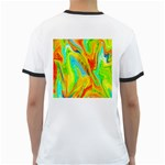 Happy Multicolor Painting Ringer T-Shirts Back