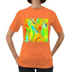 Happy Multicolor Painting Women s Dark T Shirt by designworld65