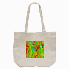 Happy Multicolor Painting Tote Bag (cream)
