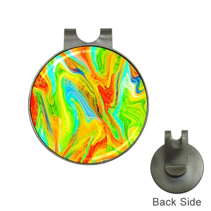 Happy Multicolor Painting Hat Clips with Golf Markers
