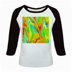Happy Multicolor Painting Kids Baseball Jerseys