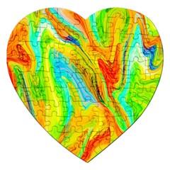 Happy Multicolor Painting Jigsaw Puzzle (heart) by designworld65