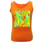 Happy Multicolor Painting Women s Dark Tank Top
