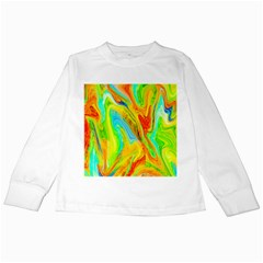 Happy Multicolor Painting Kids Long Sleeve T Shirts by designworld65