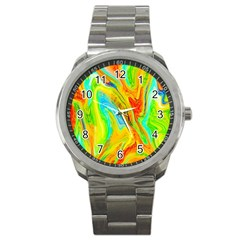 Happy Multicolor Painting Sport Metal Watch