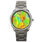 Happy Multicolor Painting Sport Metal Watch Front