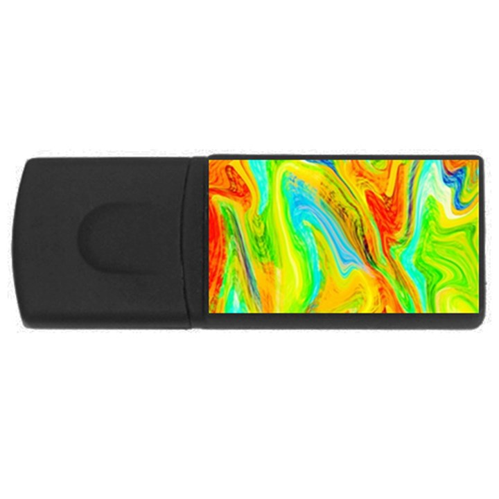 Happy Multicolor Painting USB Flash Drive Rectangular (4 GB)