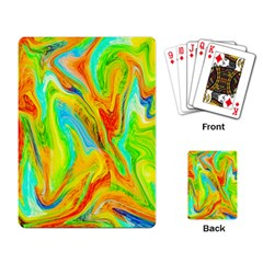 Happy Multicolor Painting Playing Card by designworld65