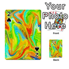 Happy Multicolor Painting Playing Cards 54 Designs  by designworld65