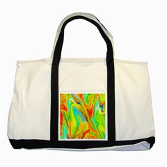 Happy Multicolor Painting Two Tone Tote Bag by designworld65