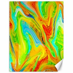 Happy Multicolor Painting Canvas 12  X 16   by designworld65