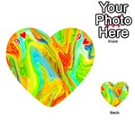 Happy Multicolor Painting Playing Cards 54 (Heart)  Front - Heart9