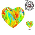 Happy Multicolor Painting Playing Cards 54 (Heart)  Front - HeartA