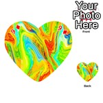 Happy Multicolor Painting Playing Cards 54 (Heart)  Front - Diamond9