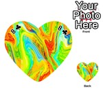 Happy Multicolor Painting Playing Cards 54 (Heart)  Front - Club8