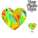 Happy Multicolor Painting Playing Cards 54 (Heart)  Front - ClubJ