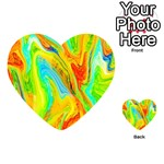 Happy Multicolor Painting Playing Cards 54 (Heart)  Back
