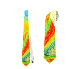 Happy Multicolor Painting Neckties (one Side)  by designworld65