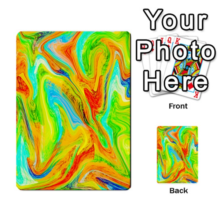 Happy Multicolor Painting Multi-purpose Cards (Rectangle)