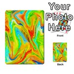 Happy Multicolor Painting Multi-purpose Cards (Rectangle)  Back 13