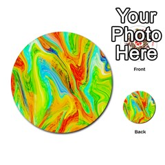 Happy Multicolor Painting Multi Purpose Cards (round)  by designworld65