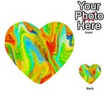 Happy Multicolor Painting Multi-purpose Cards (Heart)  Back 1