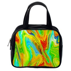 Happy Multicolor Painting Classic Handbags (one Side) by designworld65