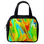 Happy Multicolor Painting Classic Handbags (One Side)