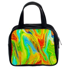 Happy Multicolor Painting Classic Handbags (2 Sides)