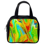 Happy Multicolor Painting Classic Handbags (2 Sides) Back