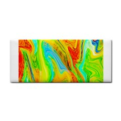 Happy Multicolor Painting Hand Towel by designworld65