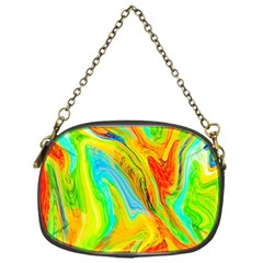 Happy Multicolor Painting Chain Purses (one Side)  by designworld65